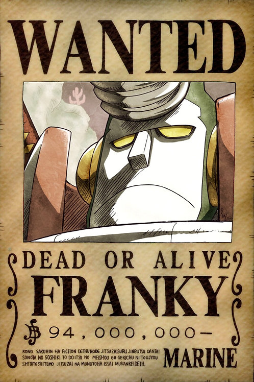 FRANKY - Affiche wanted A3