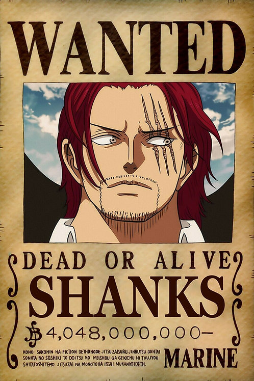 SHANKS (LE ROUX) - Affiche wanted A3