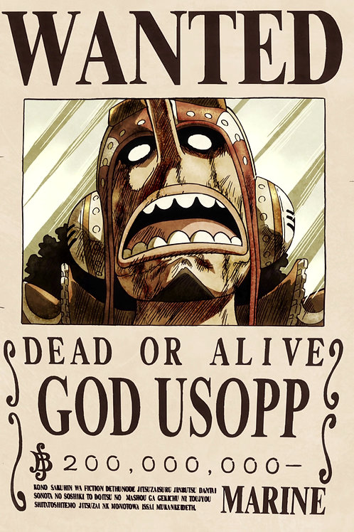 GOD USOPP - Affiche wanted A3
