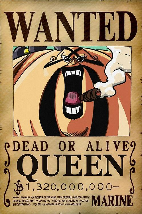 QUEEN - Affiche wanted A3