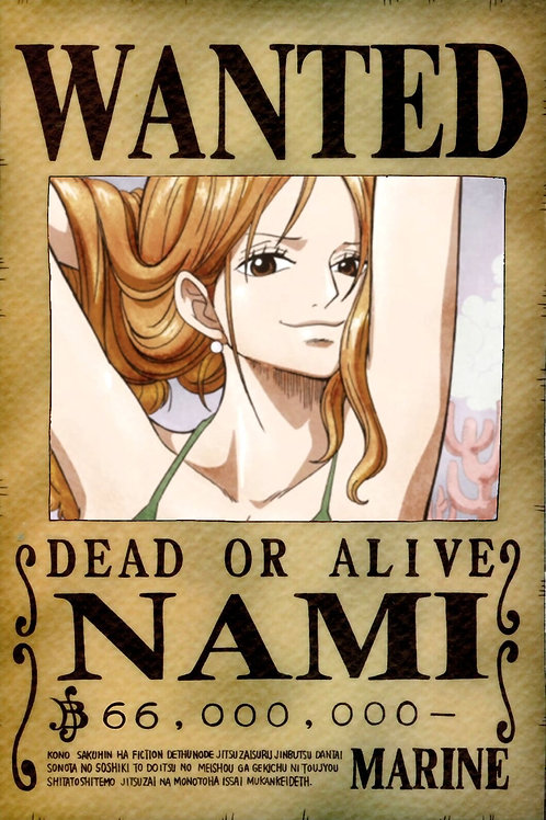 NAMI - Affiche wanted A3