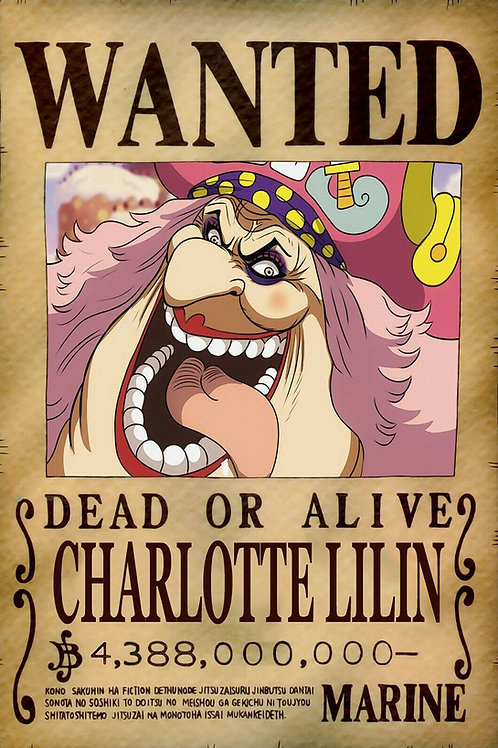 CHARLOTTE LILIN (BIG MOM) - Affiche wanted A3