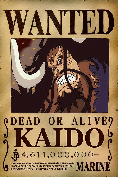 KAIDO - Affiche wanted A3