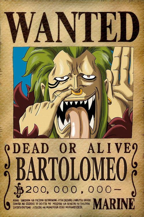 BARTOLOMEO - Affiche wanted A3