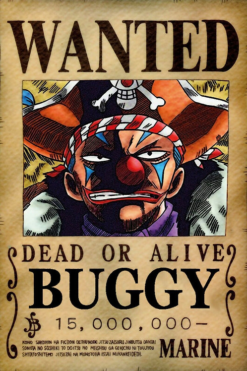 BUGGY - Affiche wanted A3