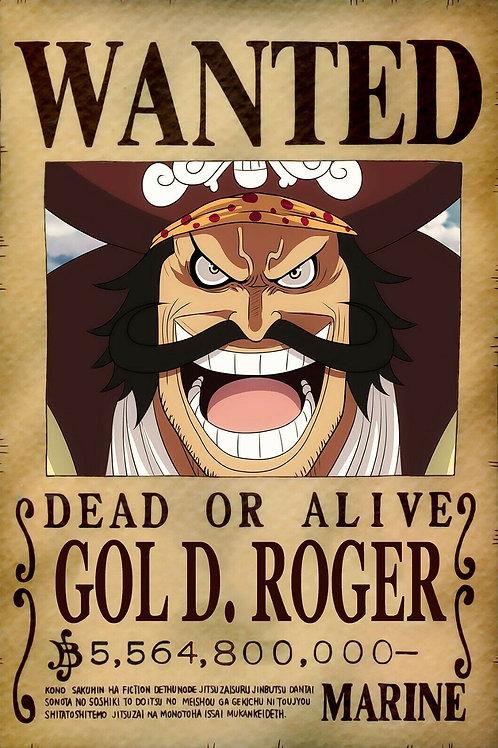 GOL D ROGER - Affiche wanted A3