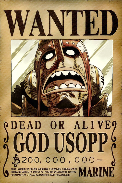 GOD USOPP - Affiche wanted A3