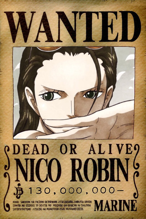 NICO ROBIN - Affiche wanted A3