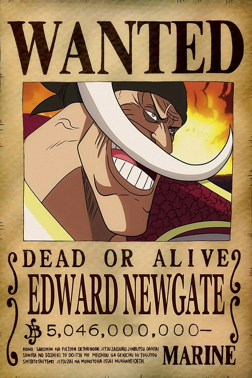 EDWARD NEWGATE (BARBE BLANCHE) - Affiche wanted A3
