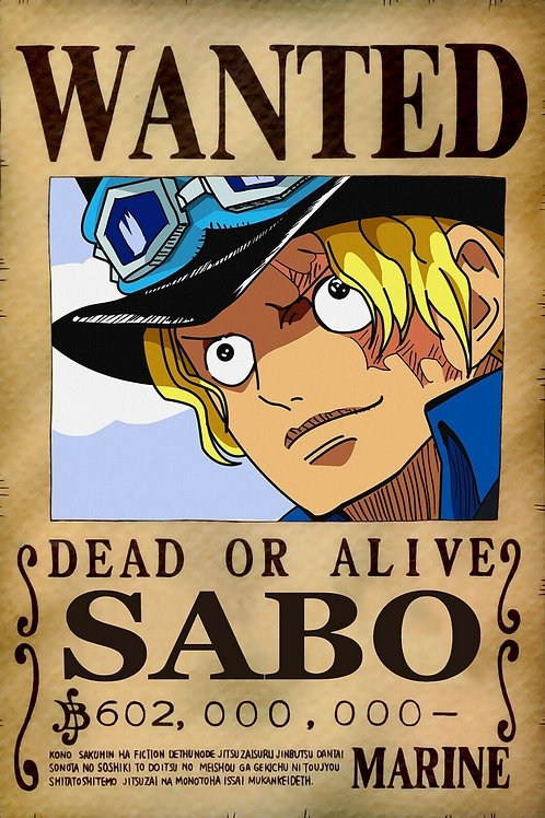 SABO - Affiche wanted A3