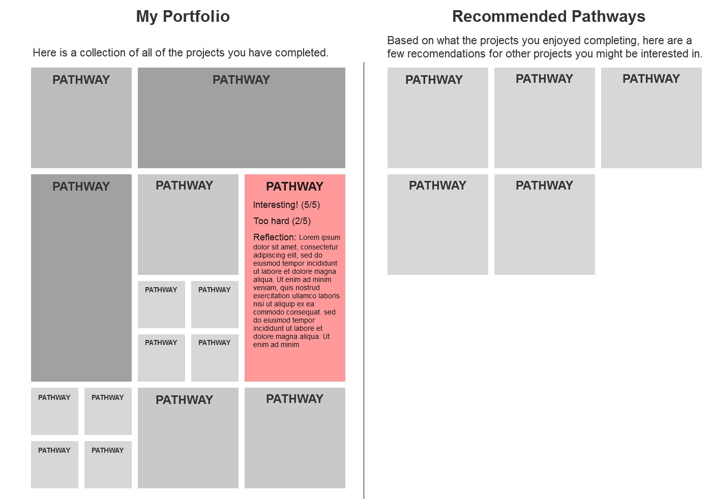 Student Portfolio & Recommendations