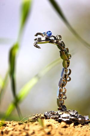 serpent en metal de recup