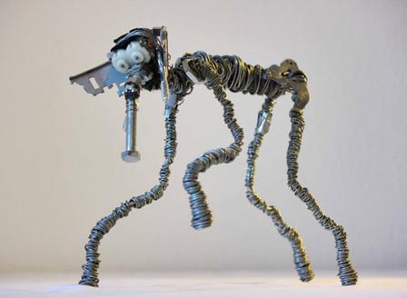 Sculpture en fil de fer l'Efélant