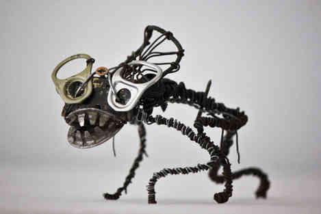 Ligurex imperia: créature en pièces de métal de récup