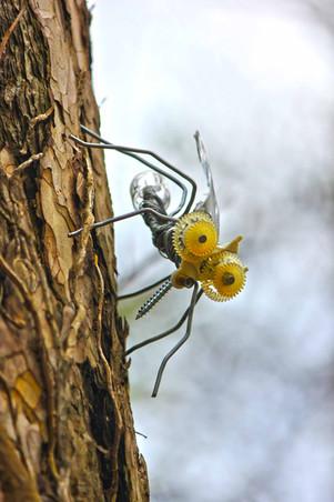 Moustique en recyclage sur un arbre
