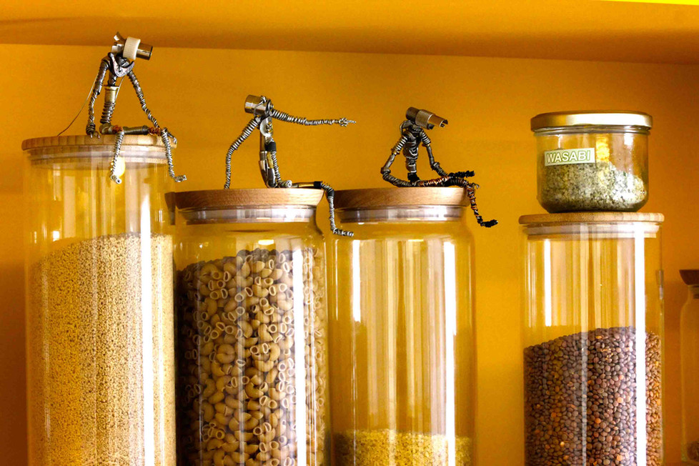 robots recup dans une cuisine