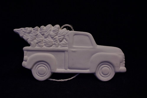 Vintage Truck Flat Ornament