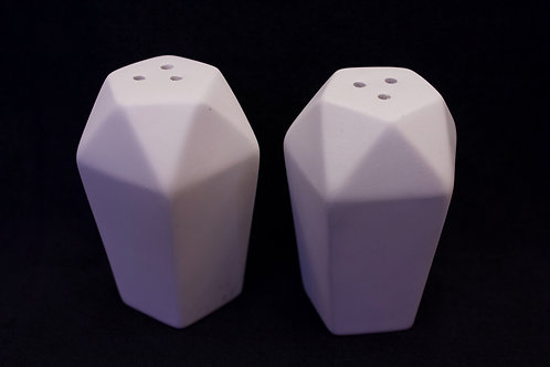 "Salt & Pepper ""Faceted"" Shakers"