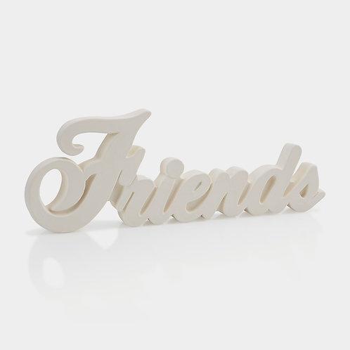 Friends Word Plaque
