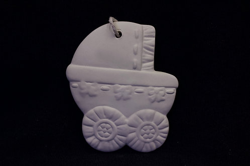 Baby Buggy Flat Ornament