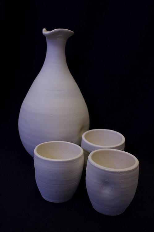 Hand-Thrown Sake Set