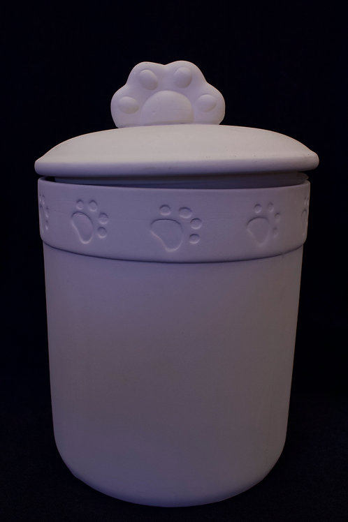 "Pet ""Paw-print"" Treat Jar (with seal)"