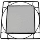 """Black Iron Trivet Frame 6"""""""