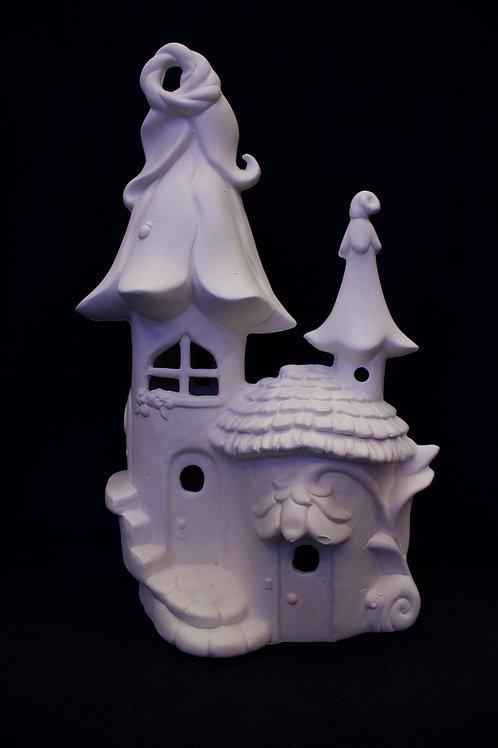 "Large ""Flower Castle"" Fairy House"