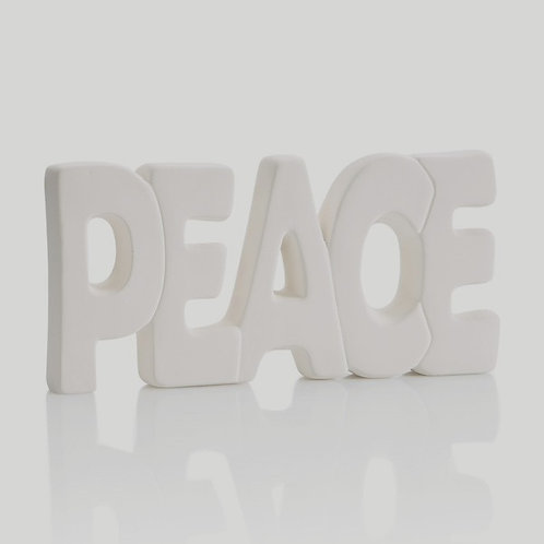 PEACE Word Plaque