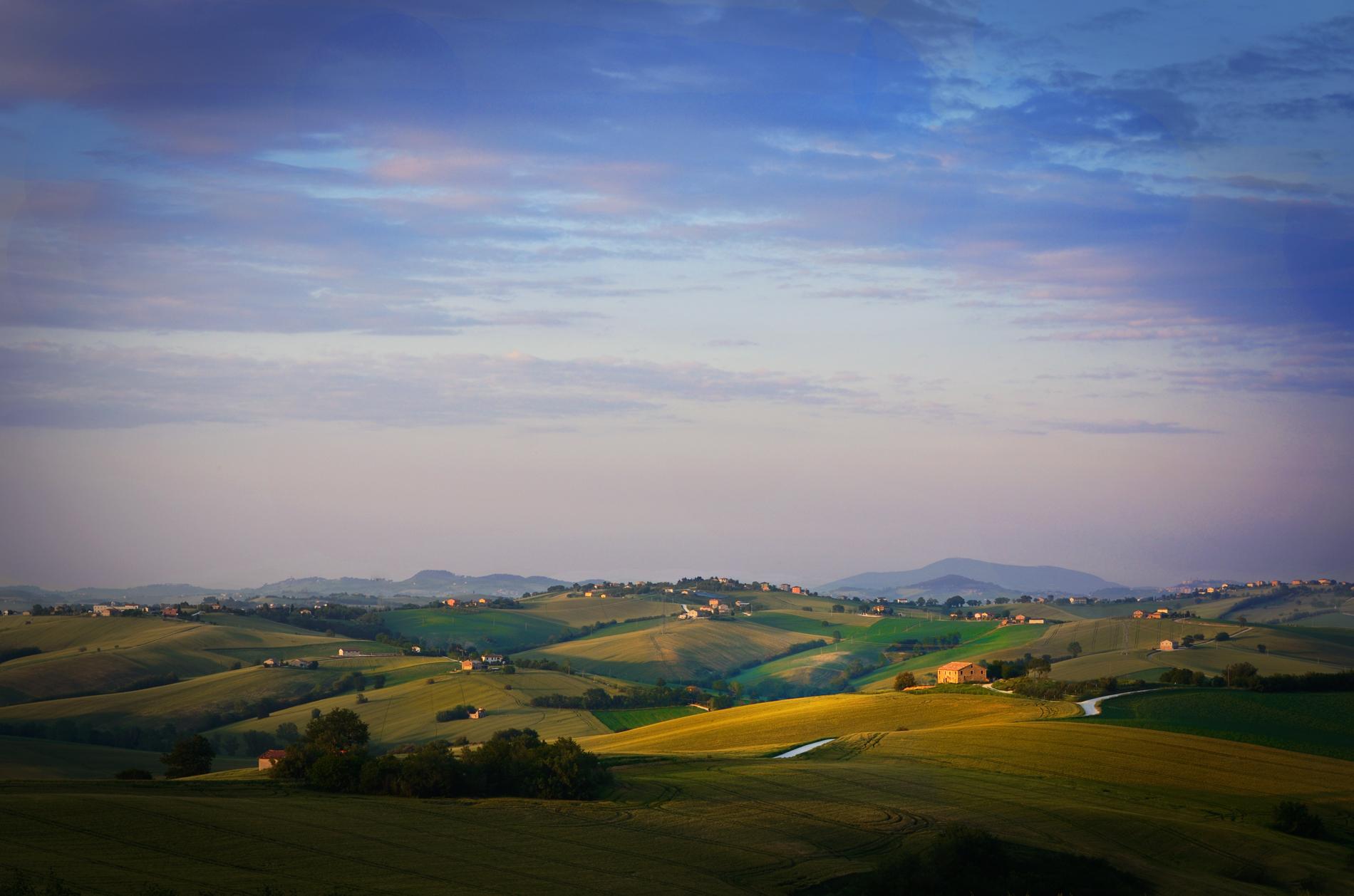 Vista da lontano del Borgo