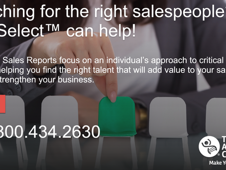 Build Your Sales Team with PXT Select™