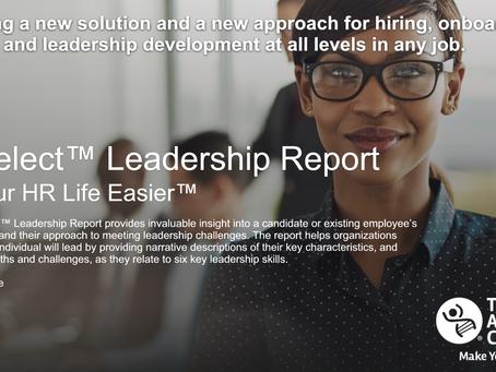 NEW! PXT Select™ Leadership Report