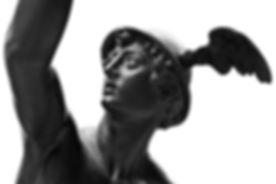 Ancient statue of the antique god of com