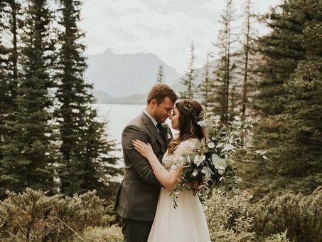 Heather & Ben's intimate mountain top wedding