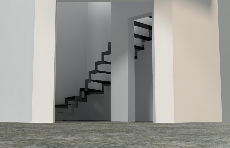 Escalier Acier Noir Mat