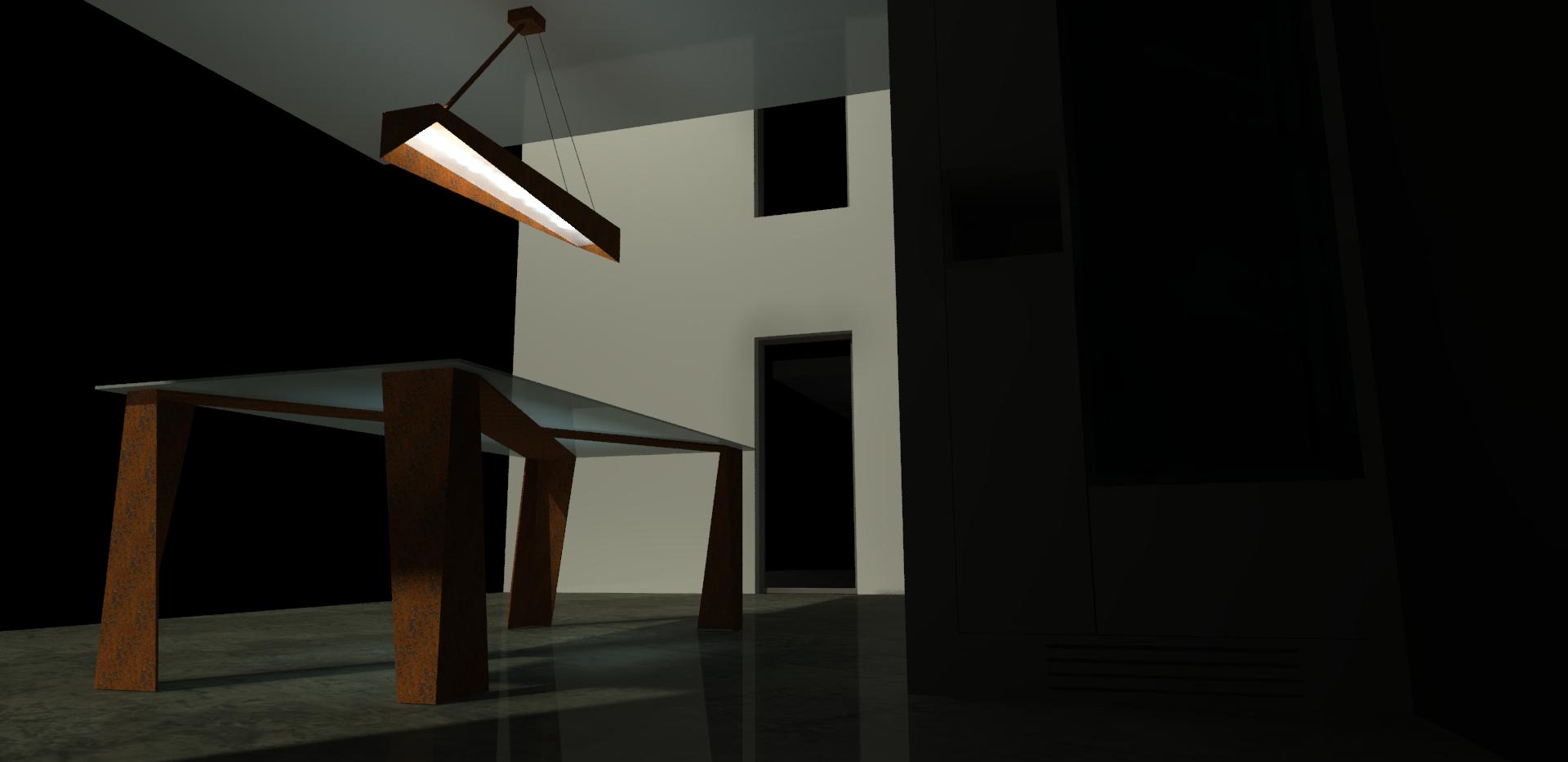Luminaire + Table Corten