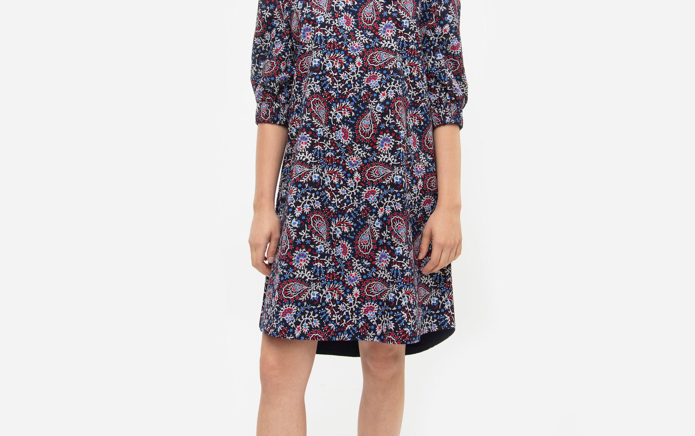 Floral Puffed Sleeve Mini Laura Dress