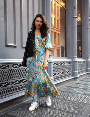 Silvia Floral Printed Dress