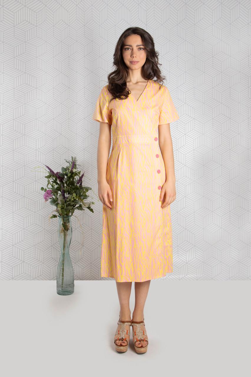 Pink/Gold Poplin Dress