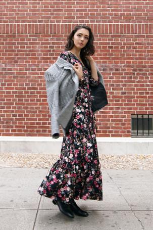 Vivian Floral Printed Poplin Dress