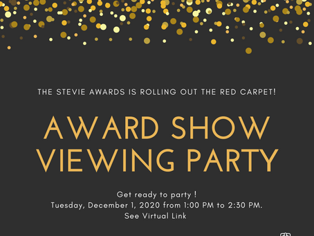 Attend the Live Stevie Awards Ceremony with US!