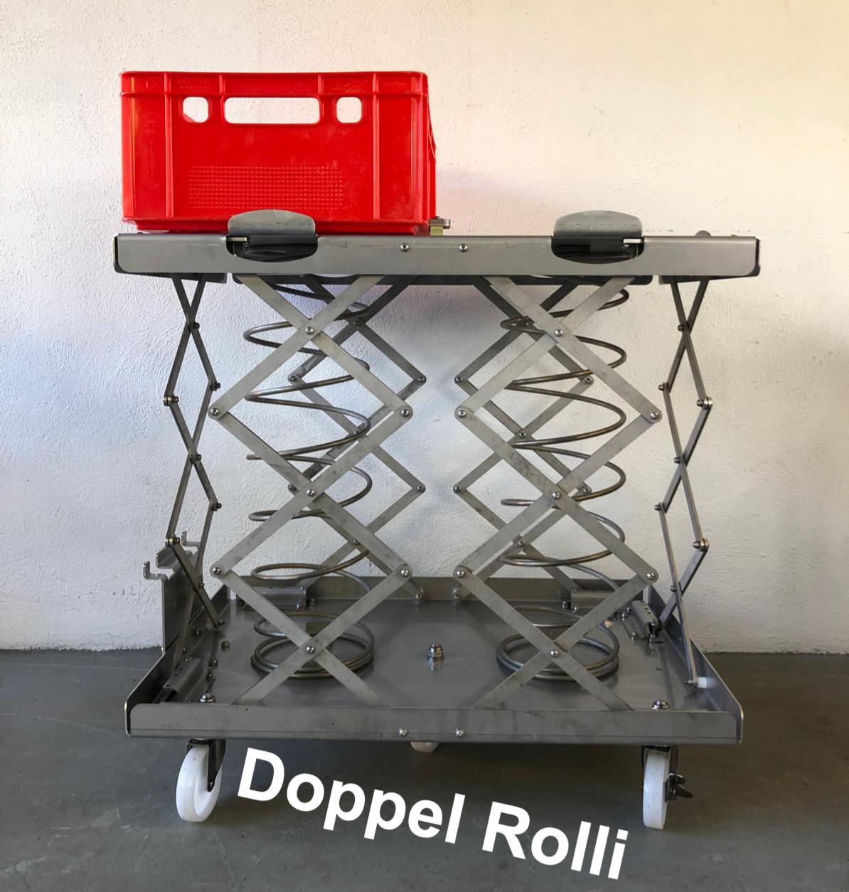 Ergonom II Doppel-Rolli mit Kistenhalter