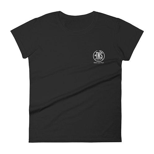 Women's embroidered short sleeve t-shirt