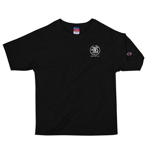Men's Champion T-Shirt Embroidered #TNS Logo