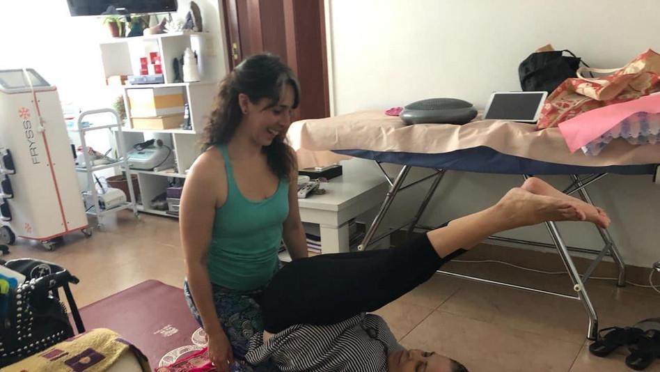 Yoga terapeutico a domicilio