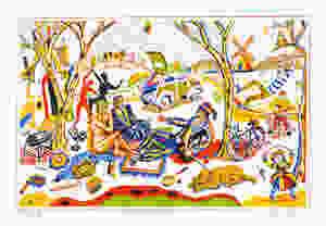 Chris Orr MBE RA The Fauves Picnic Silkscreen 55 x 75cm John Bodkin / Dawkinscolour