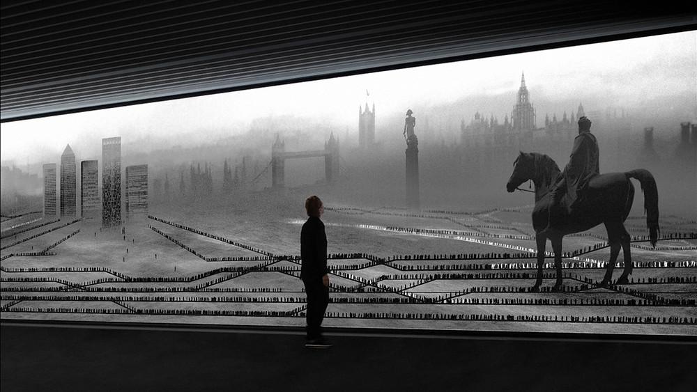 מיכל רובנר מציגה בתחנת רכבת בלונדון