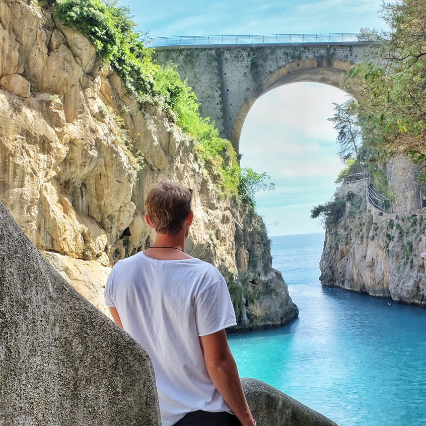 Hidden beach between Positano and Amalfi