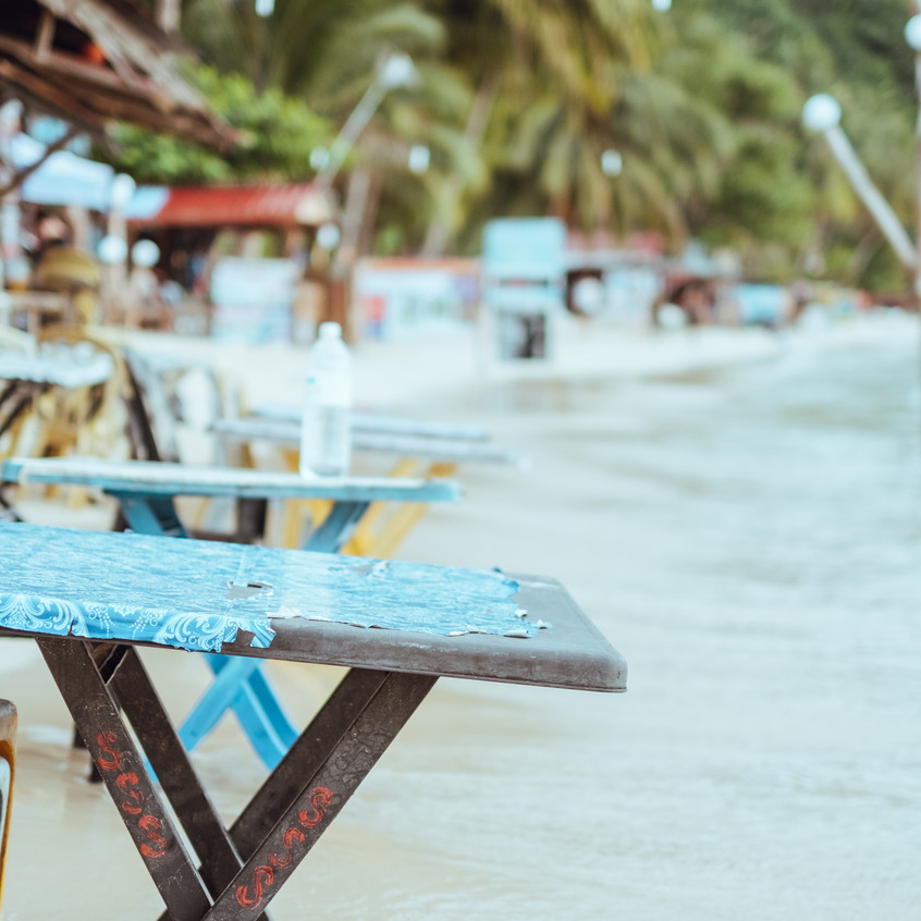Beachside dining on Perhentian Kecil