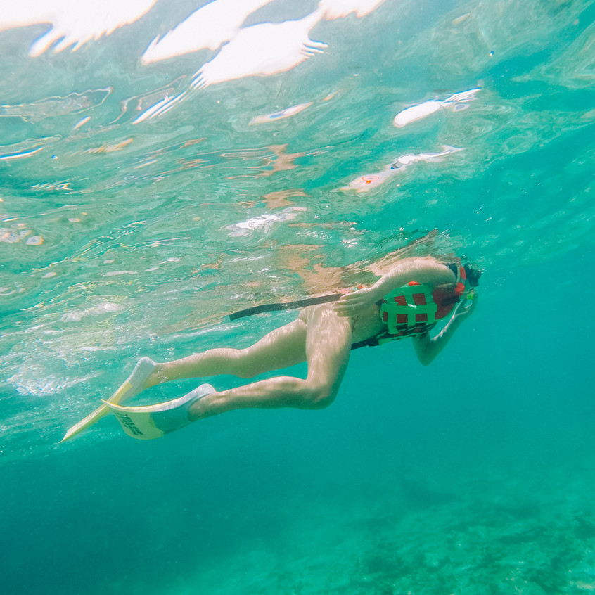 Snorkling on the Perhentian islands.